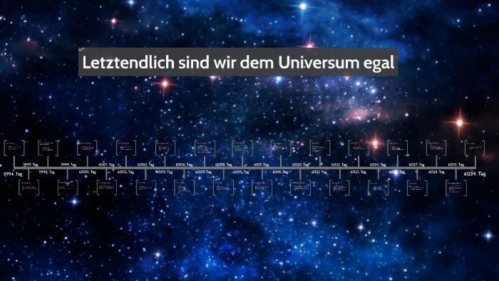 Letztendlich Sind Wir Dem Universum Egal Zusammenfassung