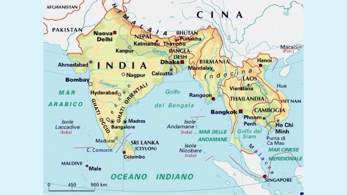 Cartina Asia Fisica.L India E Uno Stato Appartenente All Asia Meridionale E Comp By Giulia Liberto