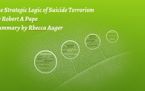 the strategic logic of suicide terrorism summary