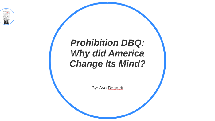 prohibition why did america change its mind