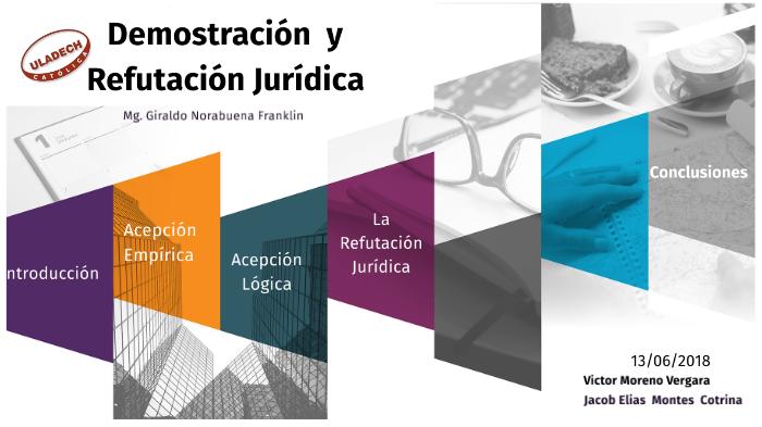 Demostración Y Refutación Juridica By Victor Moreno On Prezi