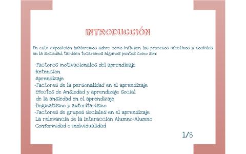 Factores Afectivos Y Sociales Del Aprendizaje By Alexis