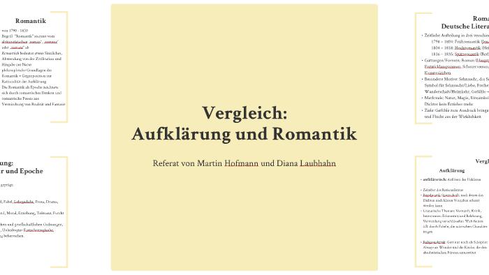 Vergleich Aufklärung Und Romantik By Diana Laubhahn On Prezi