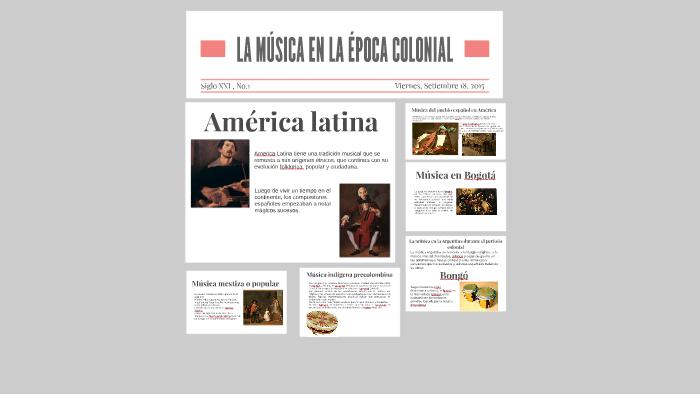 La Musica En La Epoca Colonial By Mateo Tonelli