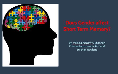Image result for Does Gender Affect Short-term Memory?