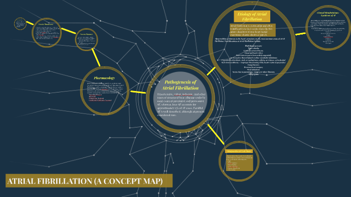 Atrial Fibrillation Concept Map.Atrial Fibrillation A Concept Map By Taaha Rahman On Prezi