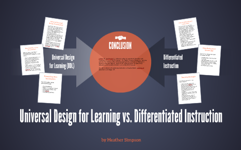 Universal Design For Learning Differentiated Instruction By Heather Simpson On Prezi Next