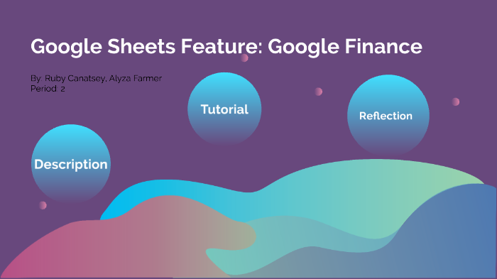 Google Sheets Feature