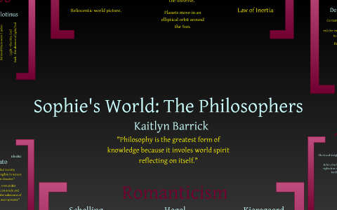 sophies world reflection