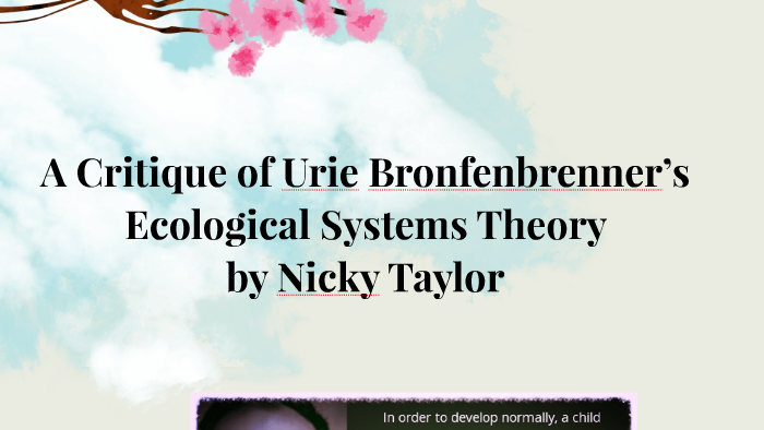 bronfenbrenner ecological systems theory pdf