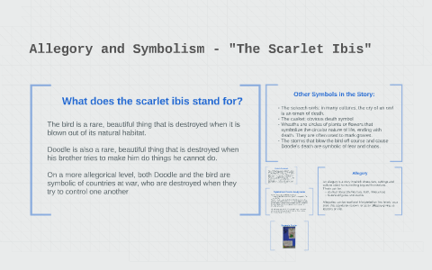 examples of symbolism in the scarlet ibis