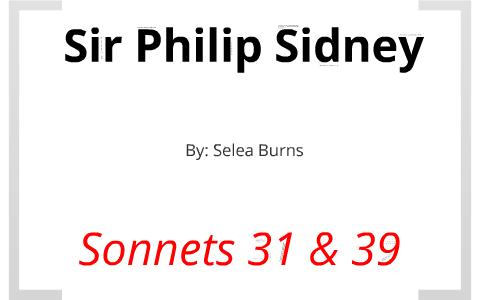 philip sidney sonnet