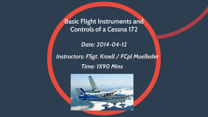 Basic Flight Instruments and Controls of a Cessna 172