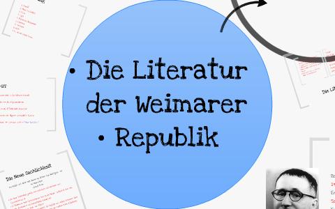 Weimarer Republik Literatur