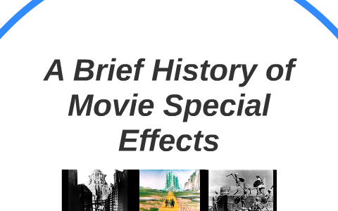 A Brief History of Movie Special Effects by Corey Petrini on