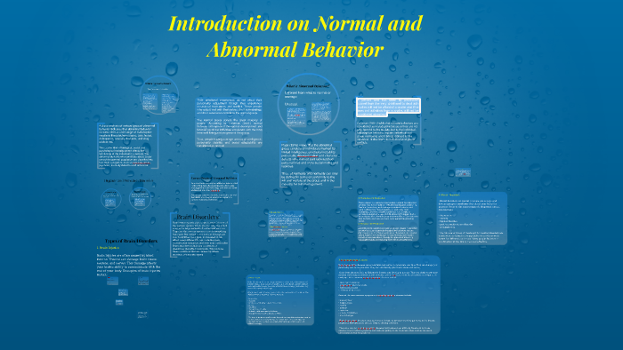 normal and abnormal behavior