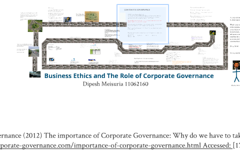 Business Ethics and the role of Corporate governance by Dipesh
