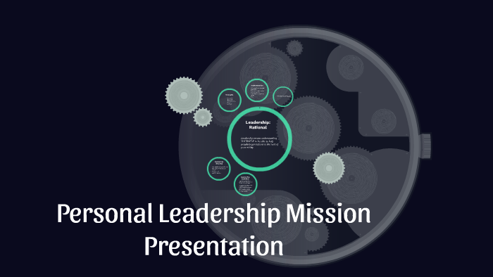 Personal Leadership Mission Presentation By Avni Nadar