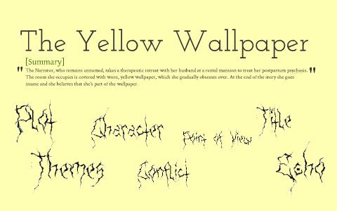😂 The yellow wallpaper main character. Main Character in ...
