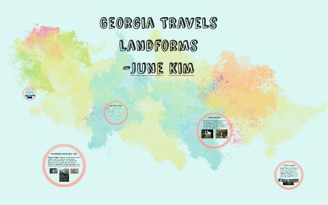 Map Of Georgia Landforms.Georgia Travels By June Kim On Prezi