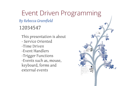 service oriented event driven programming