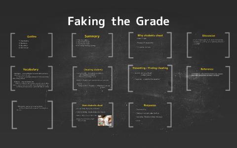 Faking Grade >> Faking The Grade By Yuka Hayashi On Prezi