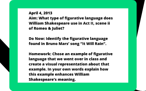 examples of figurative language in romeo and juliet