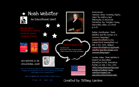 noah webster education