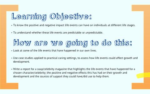 predictable and unpredictable life events