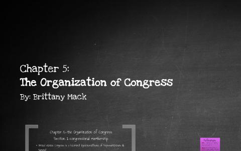 reteaching activity chapter 5 the organization of congress answer key