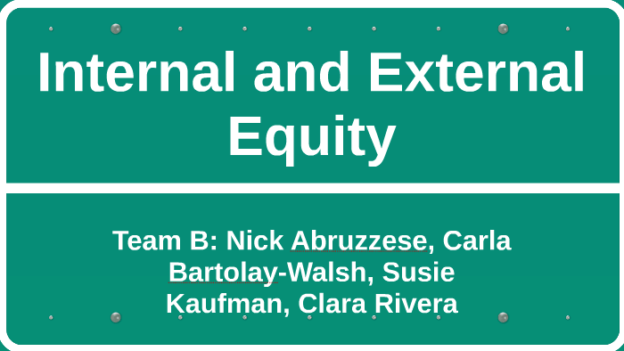 difference between internal and external equity