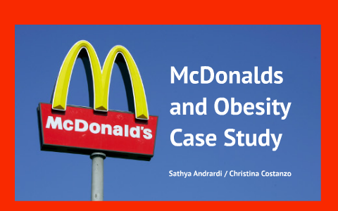 mcdonalds and obesity case study analysis