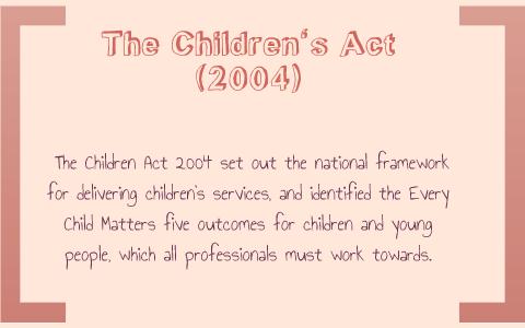 the children act 2004
