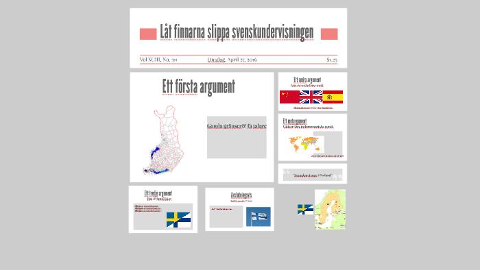 låt finnarna slippa svenskundervisningen