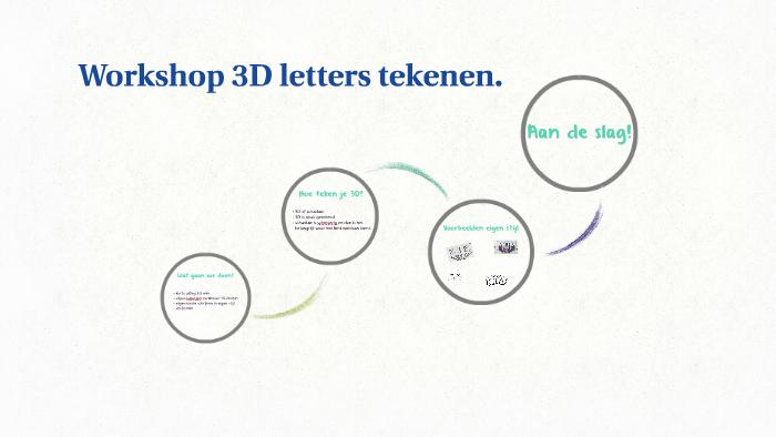 Goede Workshop 3D letters tekenen. by Fanny Busser on Prezi UT-74