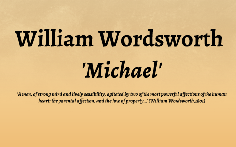 michael wordsworth summary