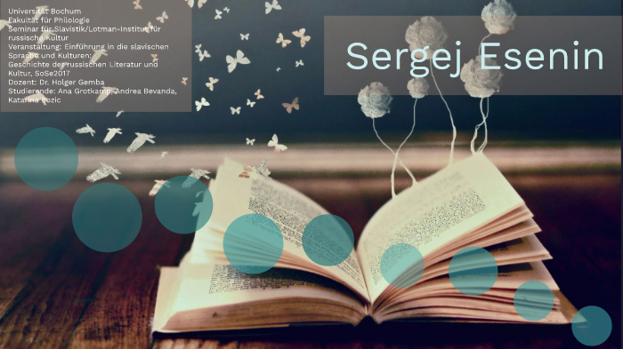 Sergej Esenin By Andrea B On Prezi Next