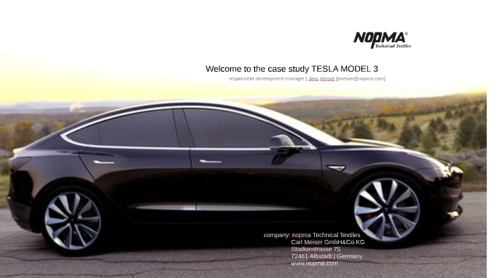 Welcome to the case study TESLA MODEL 3 by Jens Meiser on Prezi