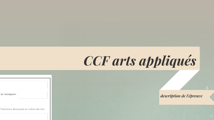 Ccf Arts Appliqués 2015 2016 By Prezi User On Prezi