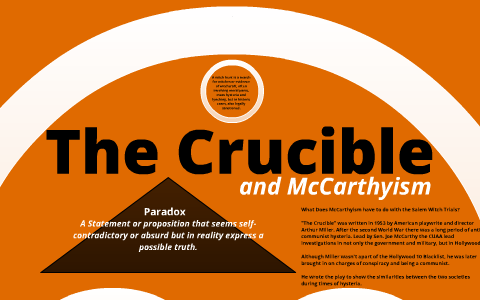 how is mccarthyism related to the crucible