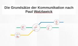 Paul watzlawick kommunikationsmodell