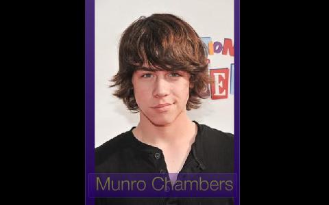 Munro Chambers dating