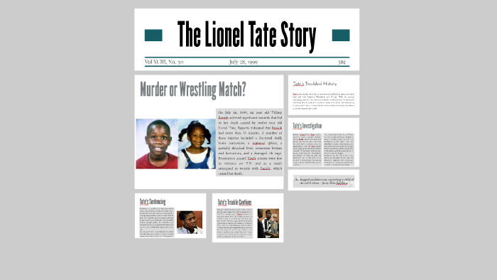 The Lionel Tate Story By Caroline Cortes