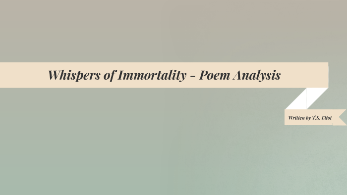 spanish essay on immortality