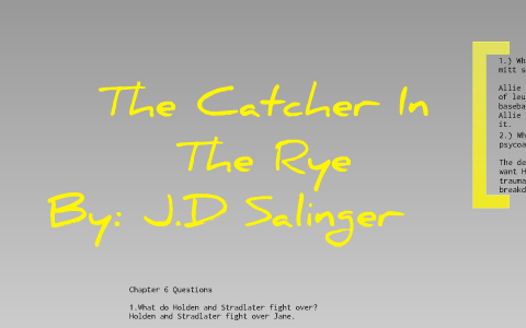 catcher in the rye chapter 9 summary