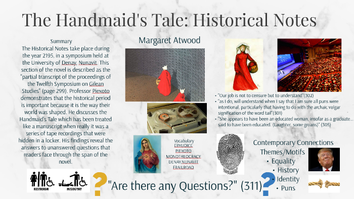 historical notes handmaids tale