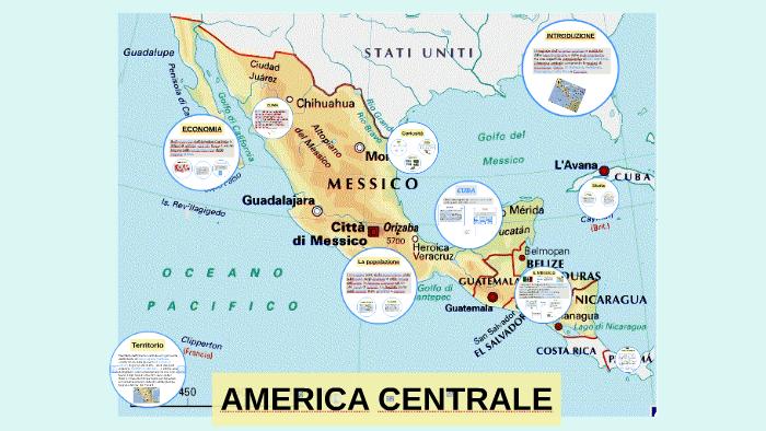 Cartina Fisica America Latina.Cartina Fisica Dell America Centrale