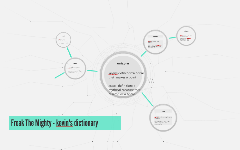 Freak The Mighty Kevins Dictionary By Sabrina Santos On Prezi