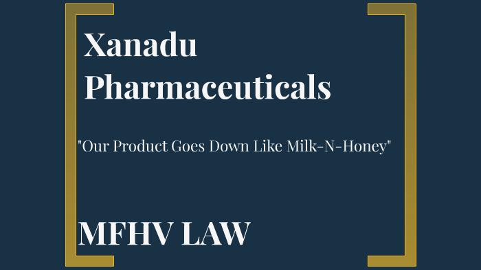 Xanadu Pharmaceuticals by Matthew Freedman on Prezi