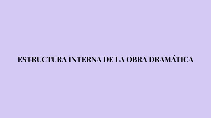 Estructura Interna De La Obra Dramática By Paula Burgos On Prezi